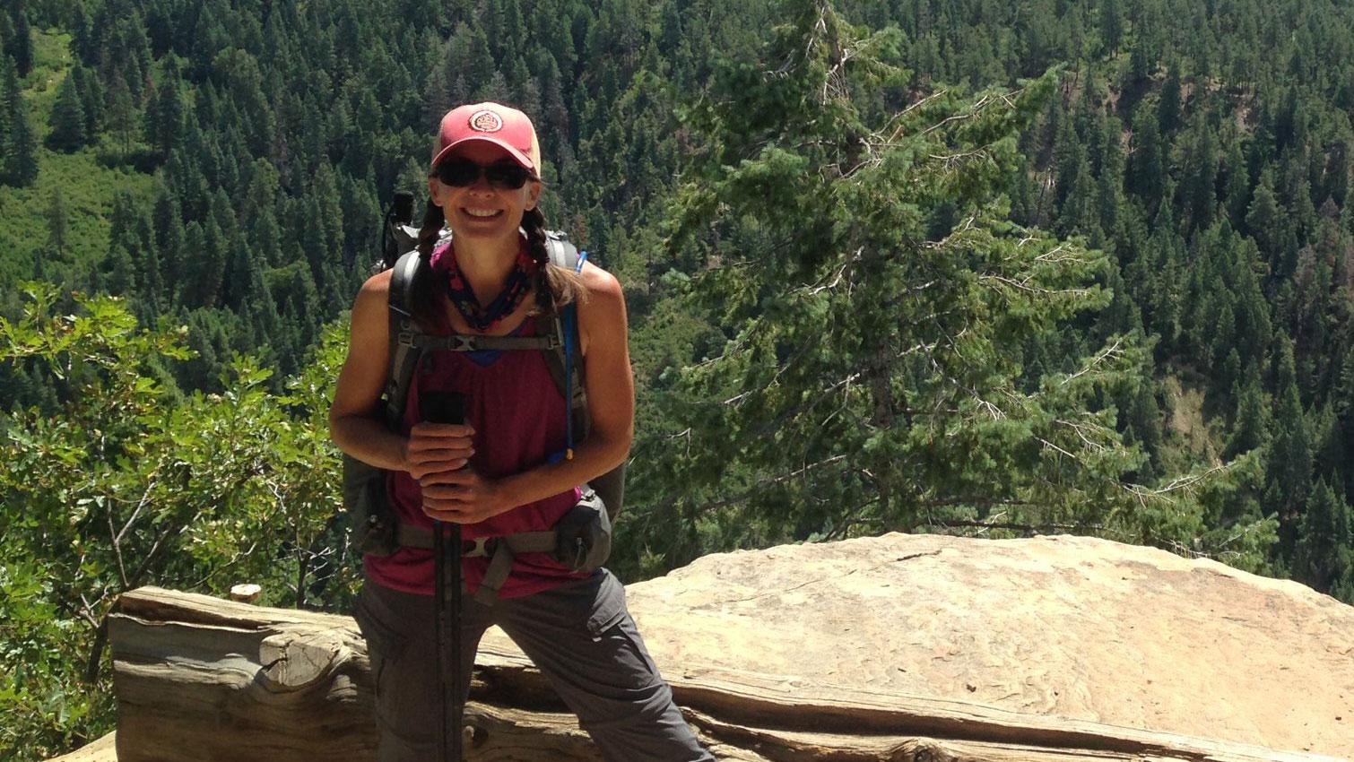 Becky Jensen hiking the CT