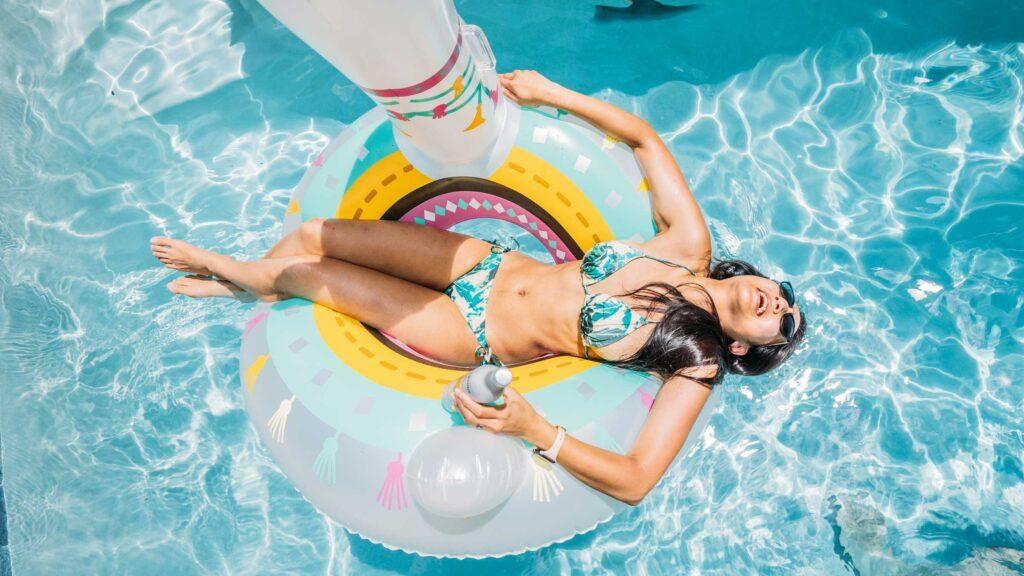shandi kano in a pool having fun